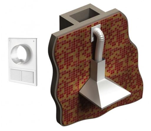 Гибкий воздуховод для кухонных вытяжек